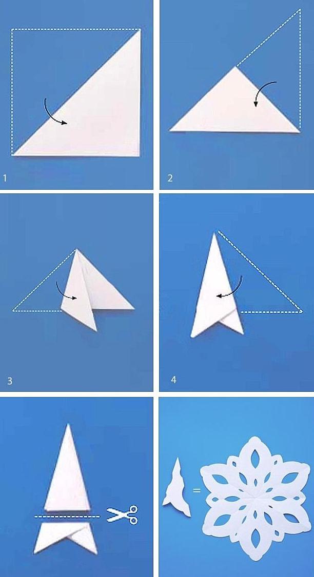 нежинки из бумажных салфеток