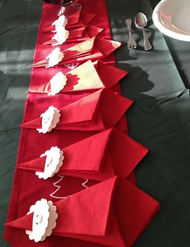 Новогодние салфетки на стол