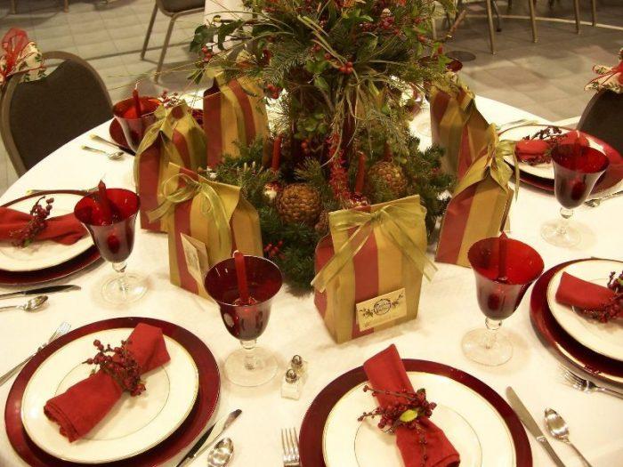 Салфетки своими руками для новогоднего стола