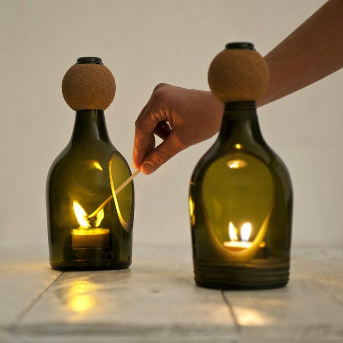 Самодельный новогодний светильник