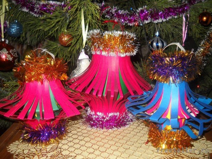 Самодельные новогодние светильники
