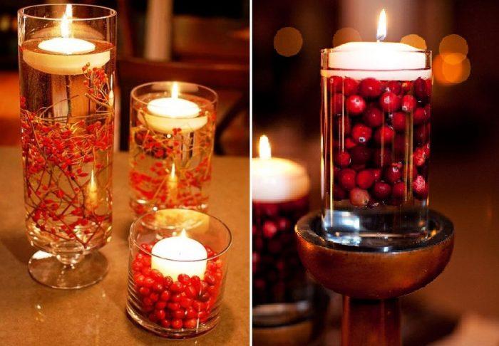 Самодельная новогодняя свеча
