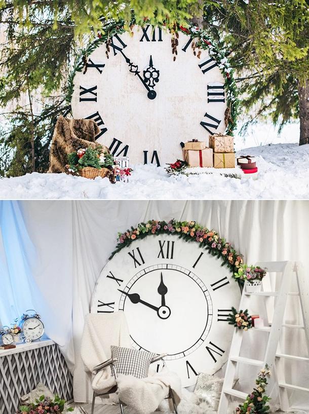 Как украсить часы на Новый год