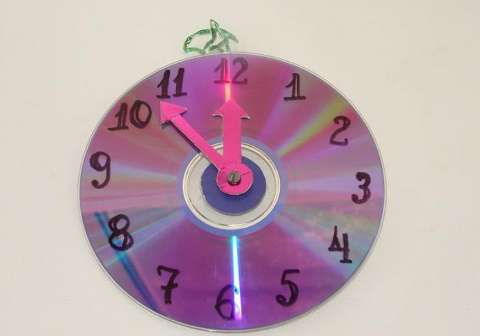 Часы на Новый год своими руками
