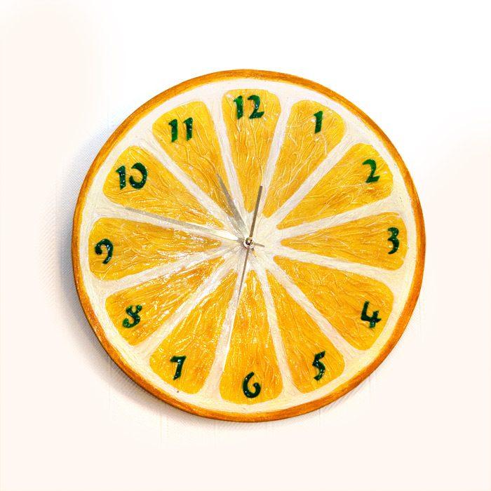 Самодельные новогодние часы