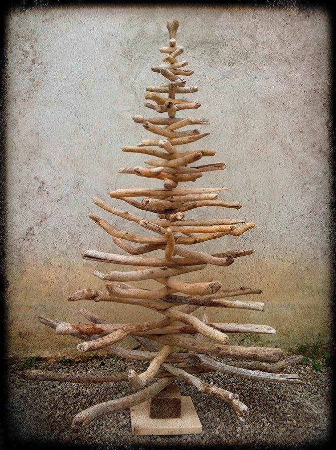 Новогодняя поделка из дерева