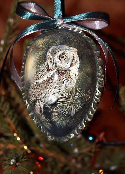 Сова-подвеска новогодняя своими руками