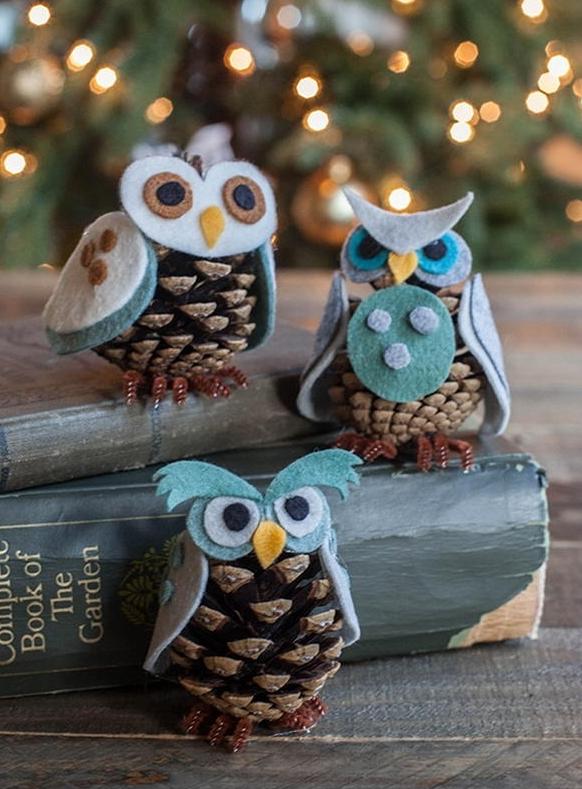 Поделка сова новогодняя