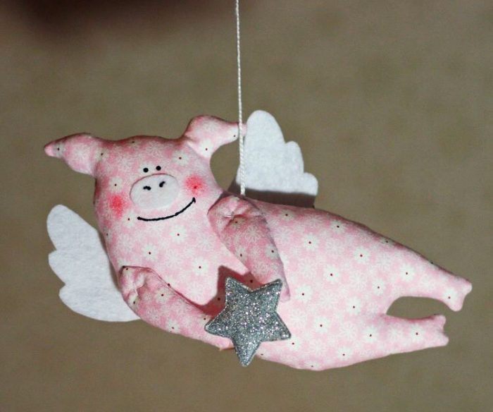 свинка ангел своими руками