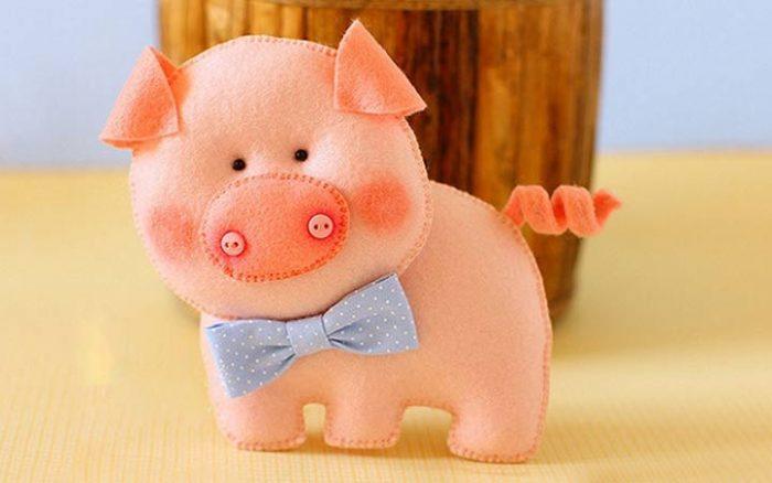 свинья из фетра своими руками