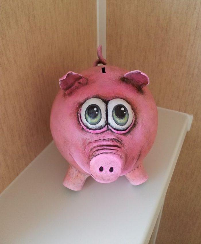 папье маше свинья своими руками