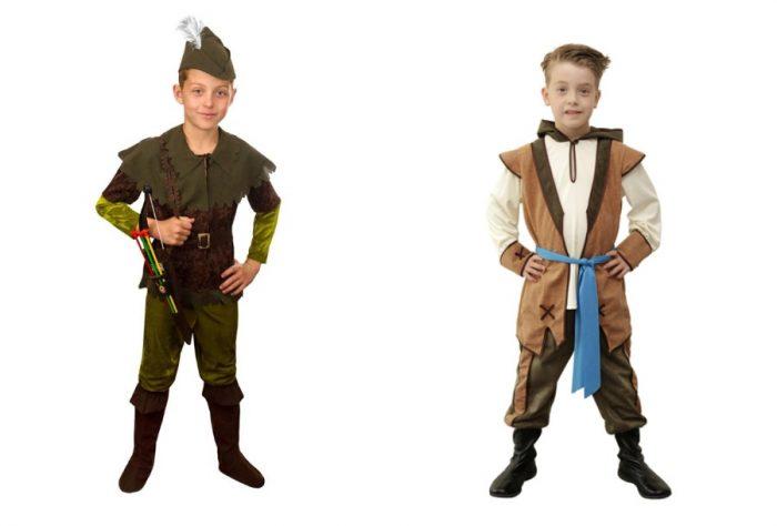 Мальчики в образе Робина Гуда