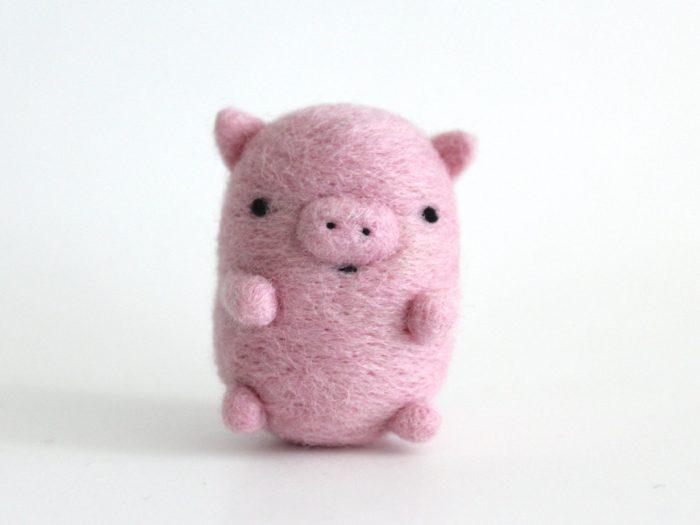 свинка из шерсти своими руками