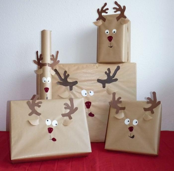 Идеи упаковки подарков в виде оленей