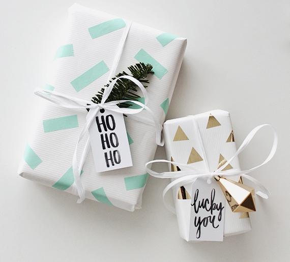 Красивая упаковка новогодних подарков