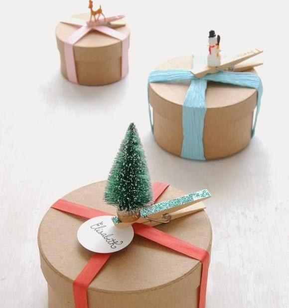 Красивая упаковка новогодних подарков − круглые коробки с фигурками