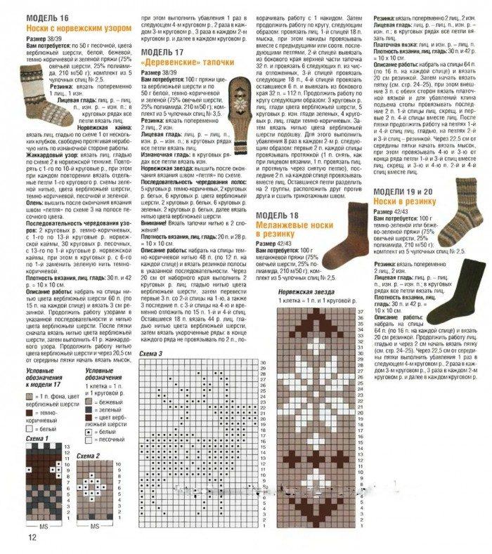 Вязаные носки схема