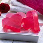 Мыло в виде сердечек своими руками