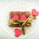 Коричнево-розовое мыло к 14 февраля