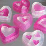 Розово-белое мыло на 14 февраля