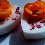 Мыло-сердечко с цветком