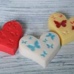 Мыло-сердечко с бабочками