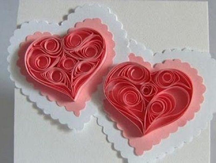 розовые валентинки
