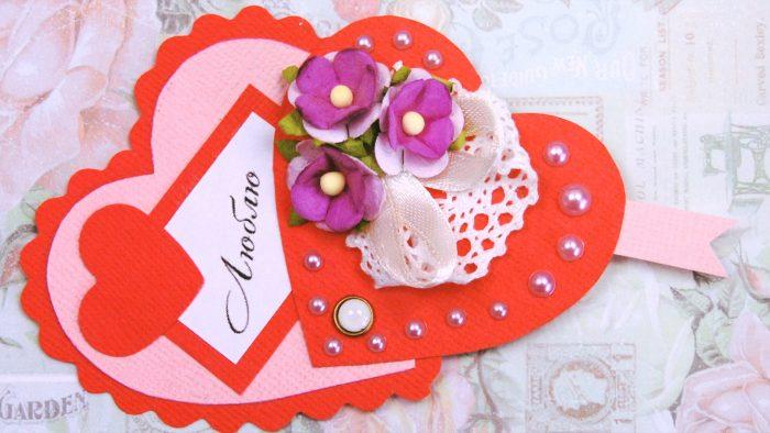 Валентинка с цветочками