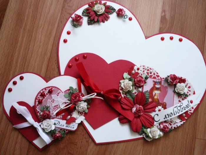 Валентинки разного размера