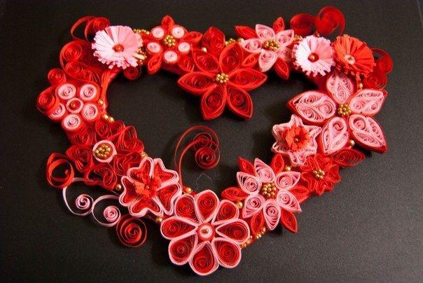 Сердце из цветочков