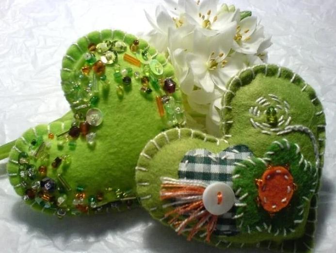Зелёные сердечки