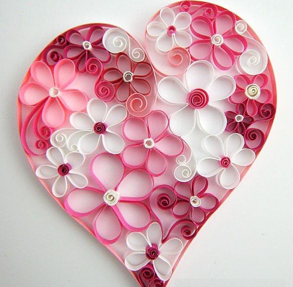 Цветочки в сердечке
