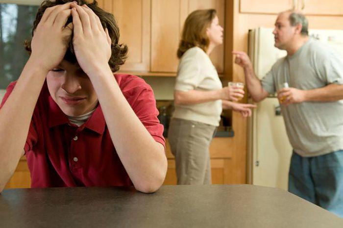 Родители ругаются при сыне
