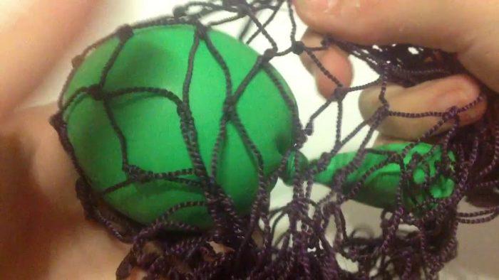 Размещение шарика в сетке