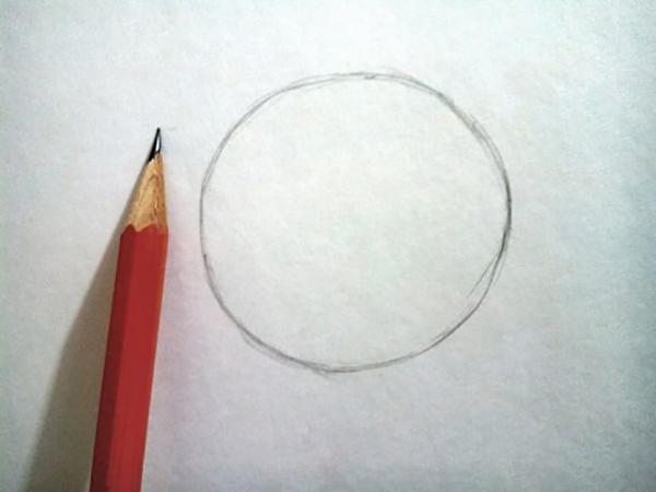 круг, нарисованный карандашом