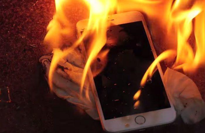 Телефон горит