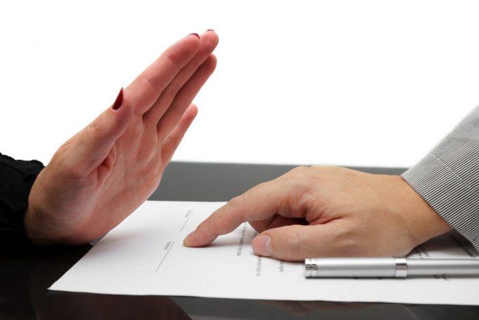 Отказ подписывать документы